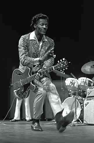 Chuck Berry um dos pioneiros do Rock 'n' Roll.