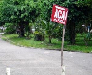 A tradicional placa de açai no Pará
