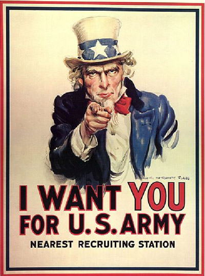 A propaganda sempre muito utilizada para fins militares